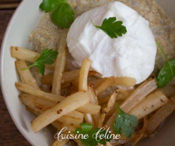 Guest Would Be Chef: Gepocheerd eitje met quinoa en gebakken schorseneren