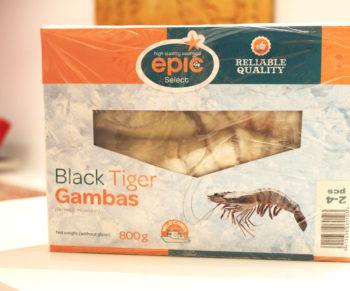 Tagliatelli met Black Tiger Gambas