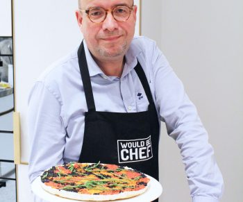 Cheesecake met kingkrab en viseitjes in de Companion van Moulinex Sven Ornelis Would Be Chef17
