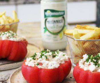 Gevulde tomaat met king crab Vandemoortele Would Be Chef Sven Ornelis7