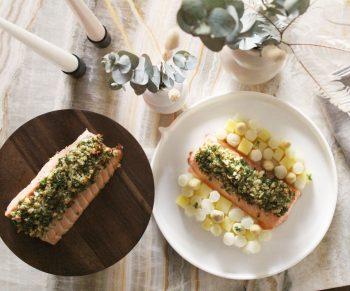 Mowi zalm met asperges & nieuwe aardappeltjes Would Be Chef Sven Ornelis1