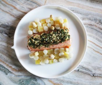 Mowi zalm met asperges & nieuwe aardappeltjes Would Be Chef Sven Ornelis11