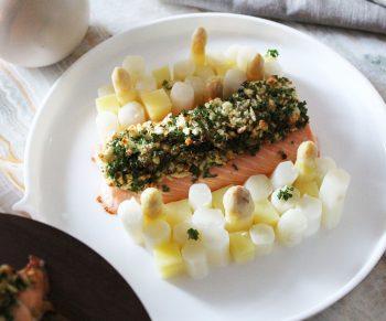 Mowi zalm met asperges & nieuwe aardappeltjes Would Be Chef Sven Ornelis4