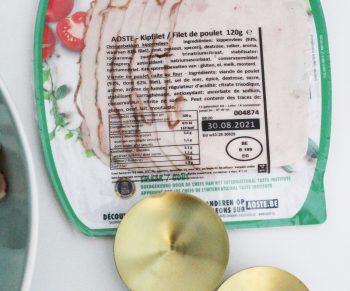 Lauwe salade met courgette en tomaatjes, ciabatta en traaggegaarde kipfilet van Aoste Would Be Chef Sven Ornelis8